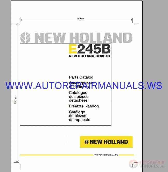 New Holland All Model Full Shop Manual Dvd