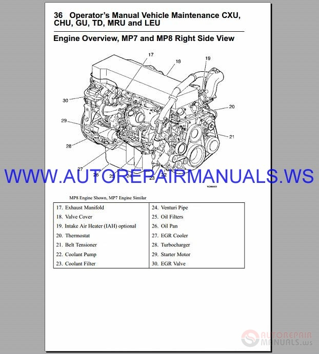 mack mp8 engines diagnostic service manual 2004-2013