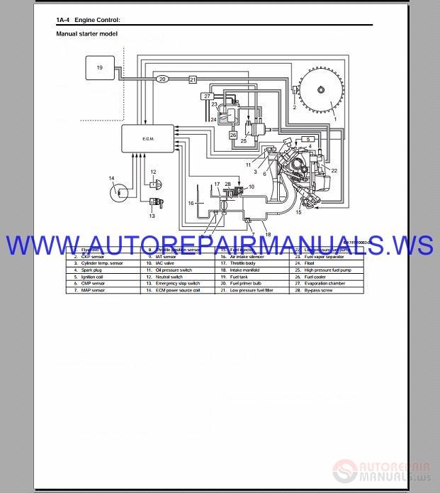 Suzuki Motor Df15a Df20a Lean Burn Repair Manual 2012