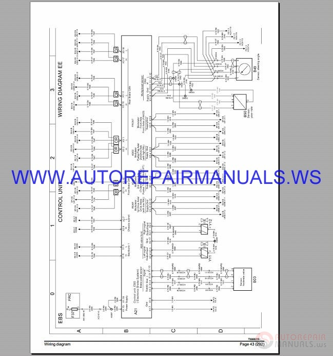 Volvo Fm4 Fh4 Fl3 Fe3 Wiring Diagrams Manual