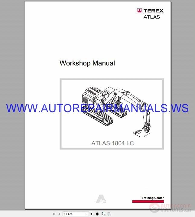 terex atlas 1804 lc hydraulic excavator workshop manual
