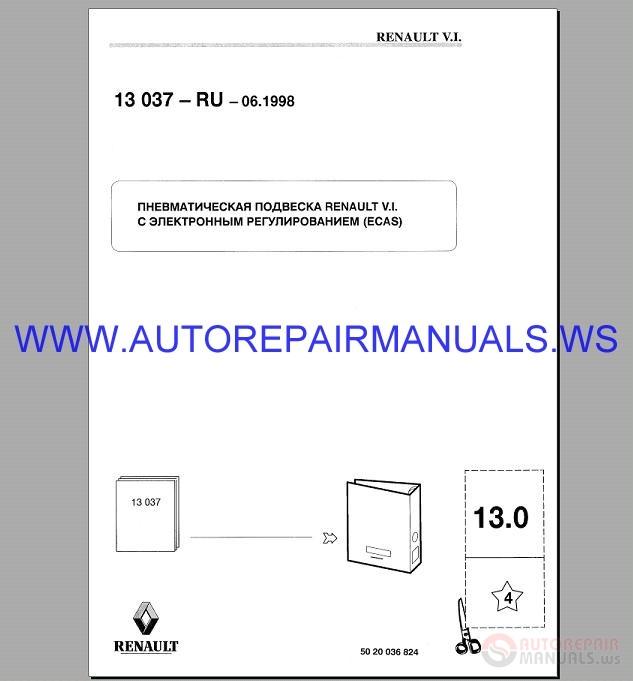 Renault Truck 13 Service Manual 1990