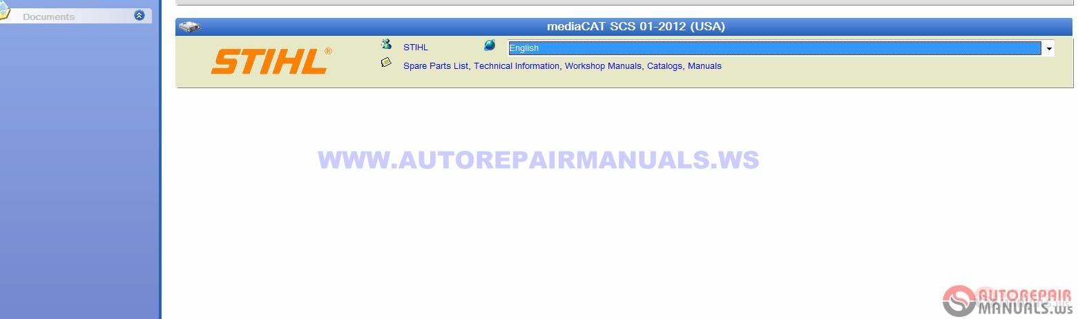 STIHL SCS mediaCAT [01-2012] (USA) | Auto Repair Manual Forum