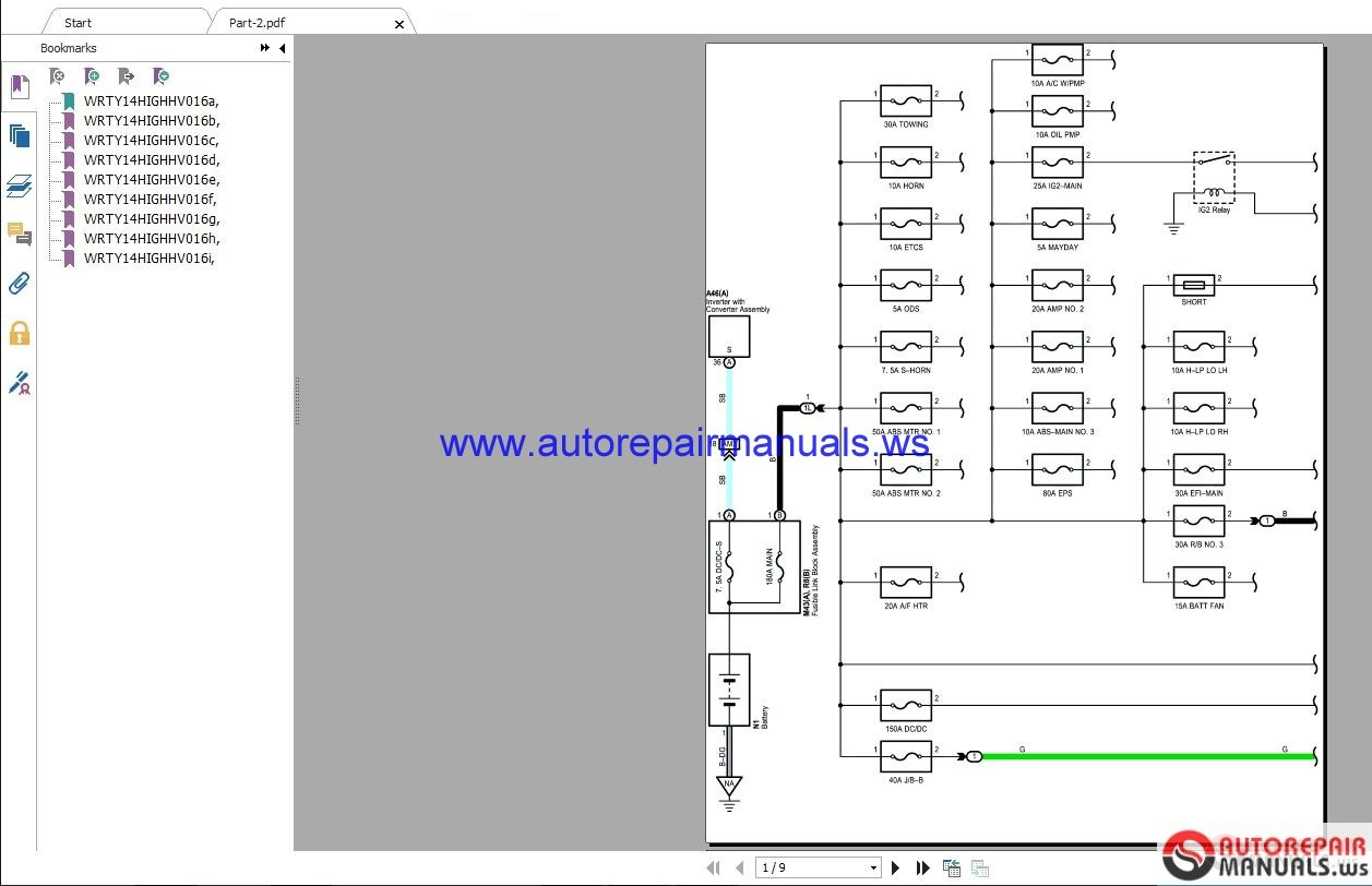 Toyota       Highlander    2016 35    Wiring    Diagrams   Auto Repair