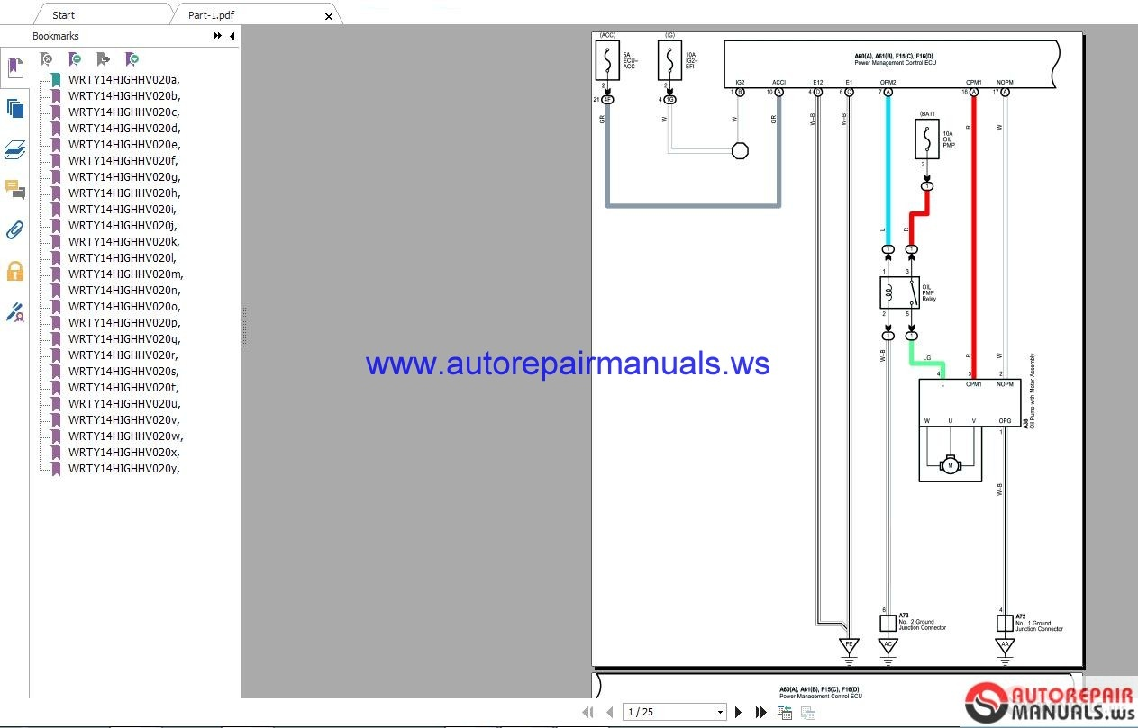 Toyota Highlander 2016 3 5 Wiring Diagrams Auto Repair