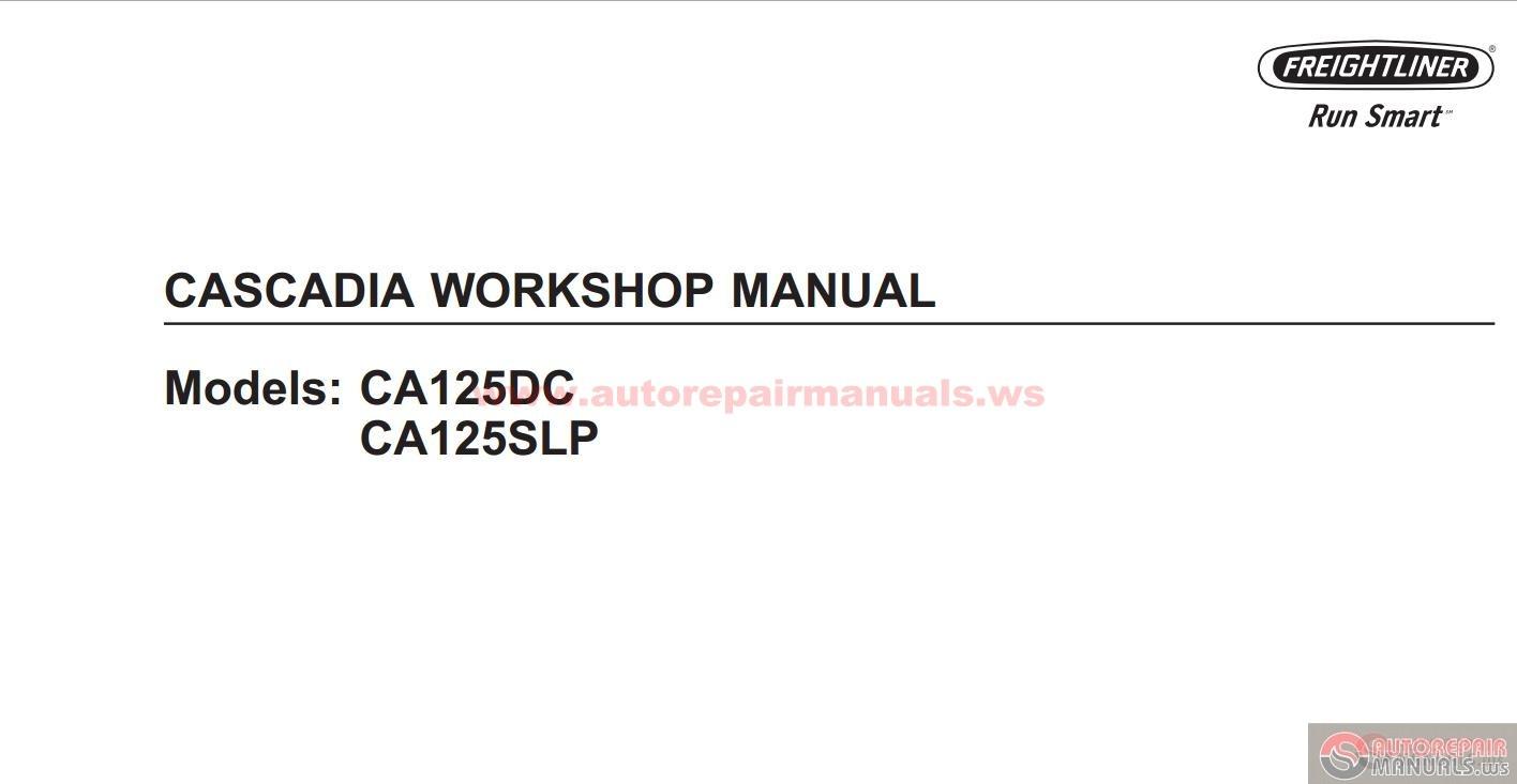 Freightliner All Models Full Manuals Dvd