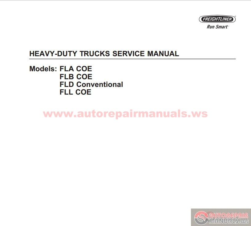 Freightliner All Models Full Manuals Dvd