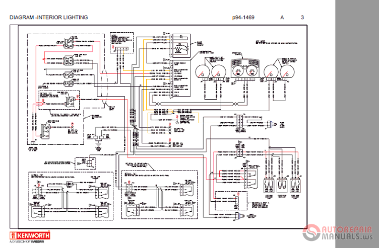 Kenworth T800 P94 1382 Electric Diagram