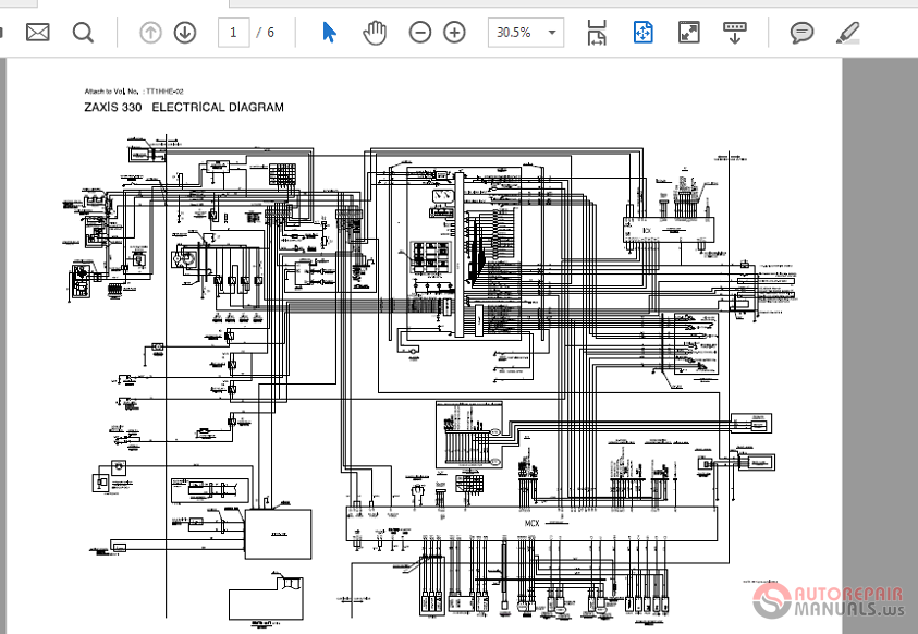 Zaxis Zx330-370mth 330l Wiring Diagram