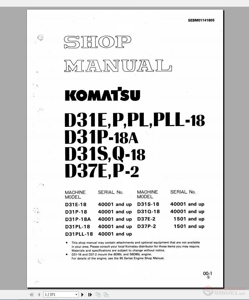 Komatsu All New Version Full Dvd Manual Auto Repair Forum D31p Wiring Diagram Img