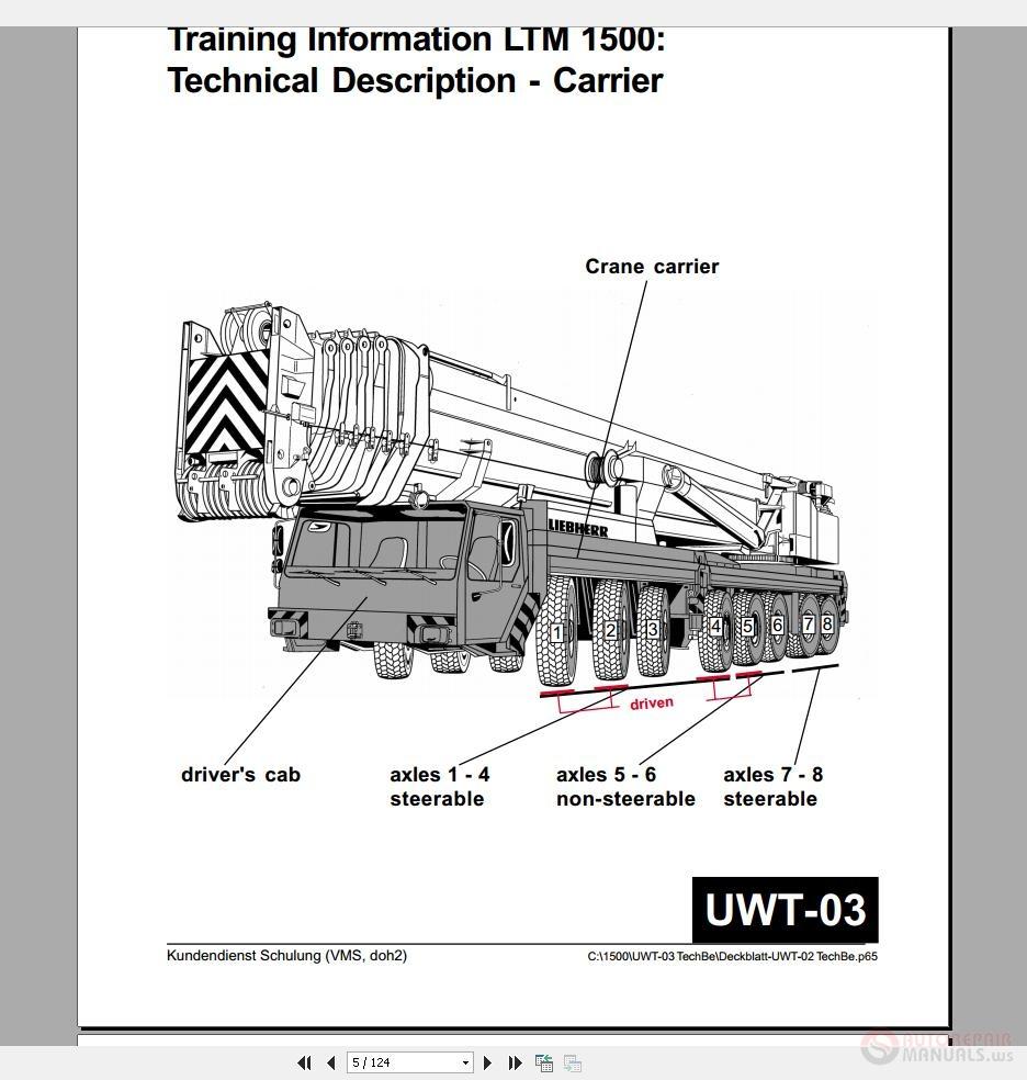 liebherr bmk u0026 39 s crane service manual