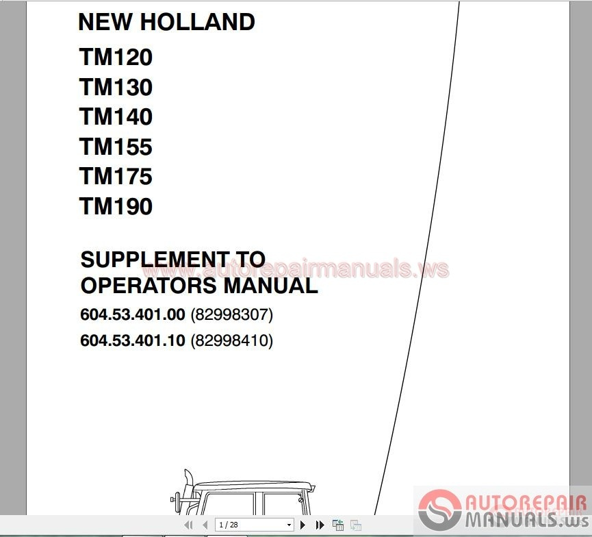 New Holland All Model Full DVD Service Manual | Auto Repair Manual on