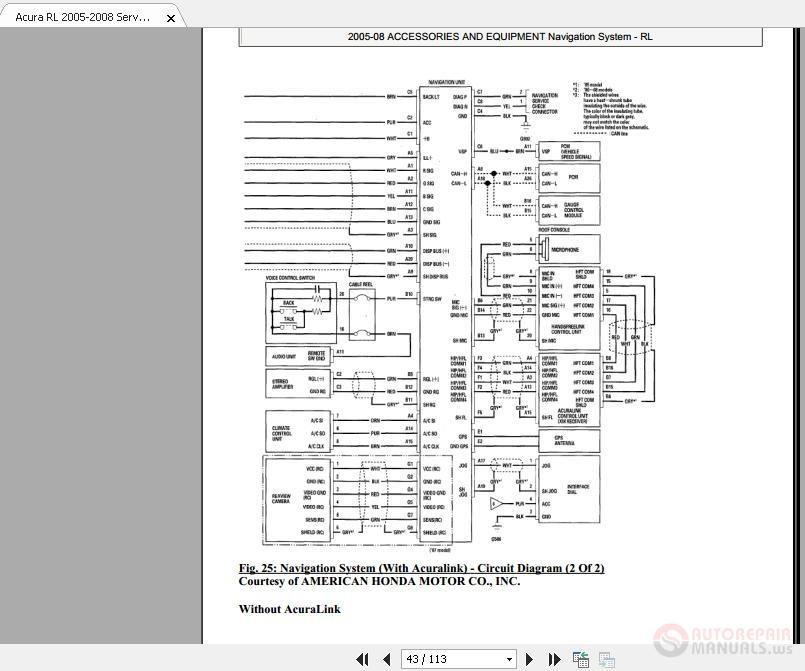 Acura RL 2005-2008 Service Manual-Navigation System