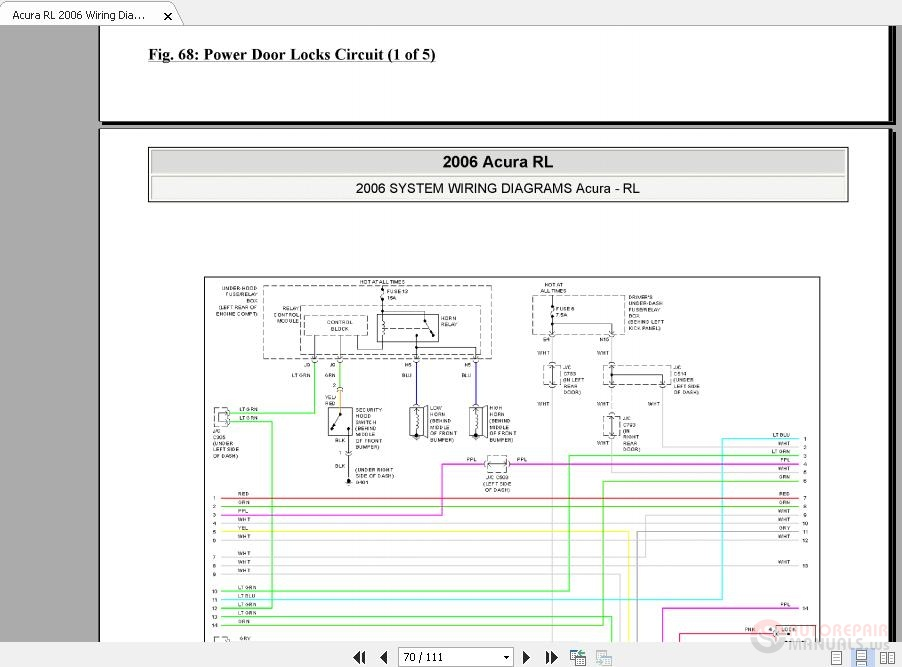 Acura Rl Wiring Diagrams System