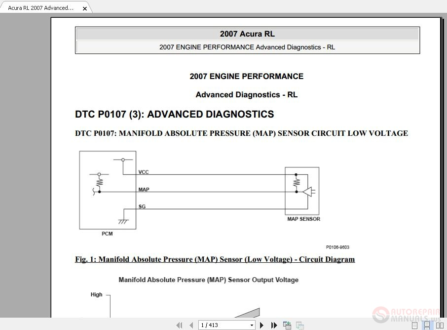 Acura RL 2007 Advanced Engine Performance Diagnosis | Auto ...