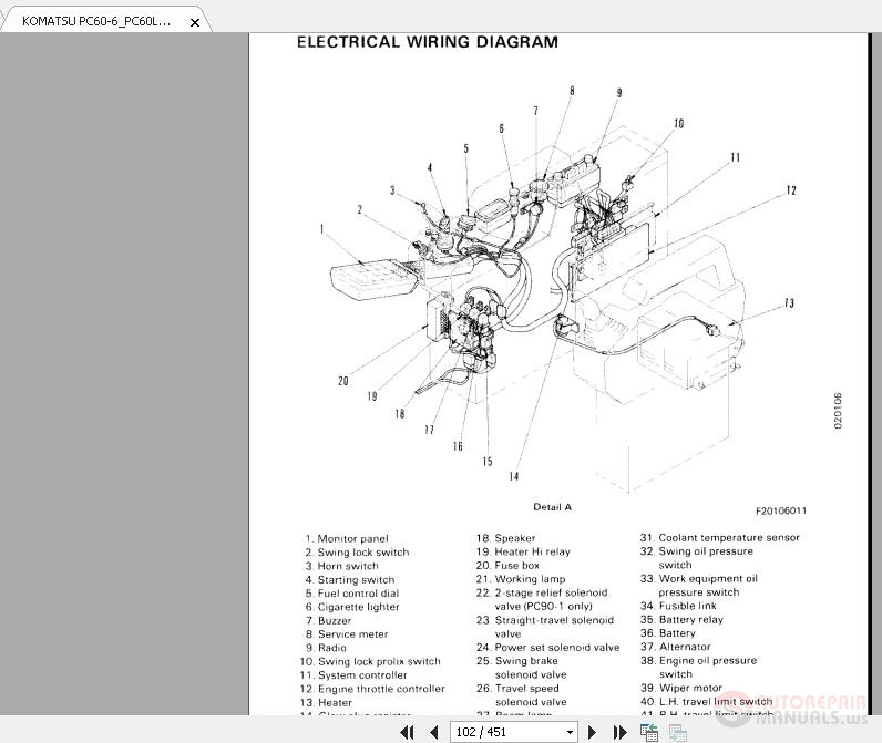 Komatsu Battery Relay Diagram