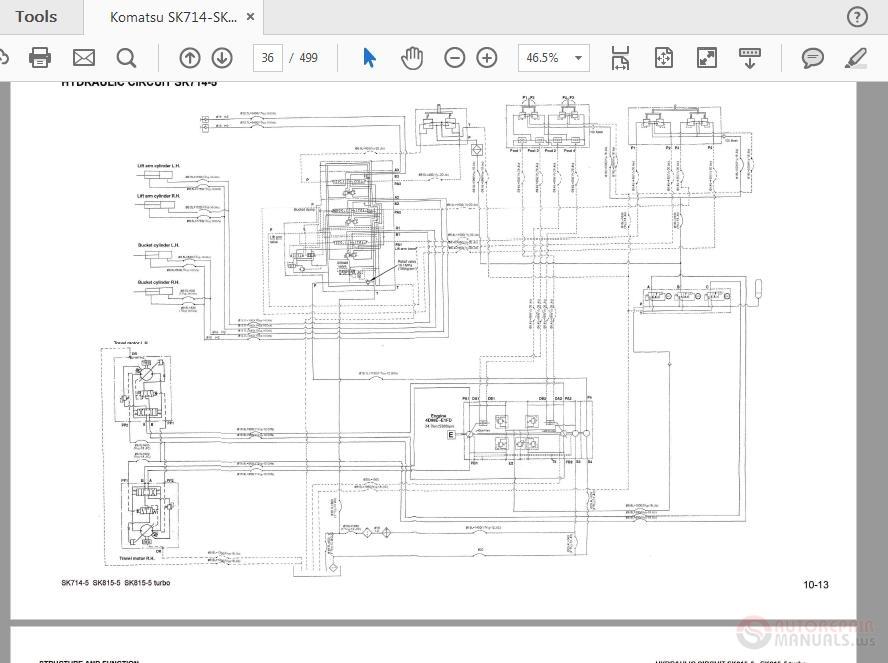 komatsu sk 714 wiring diagram