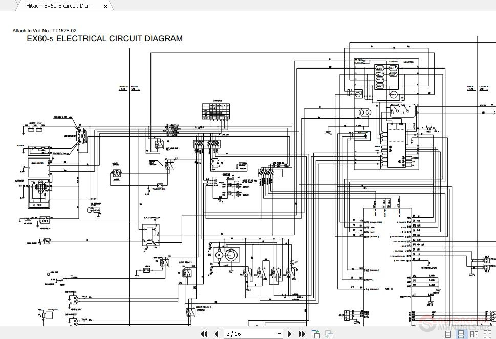 Hitachi Ex60-5 Circuit Diagram