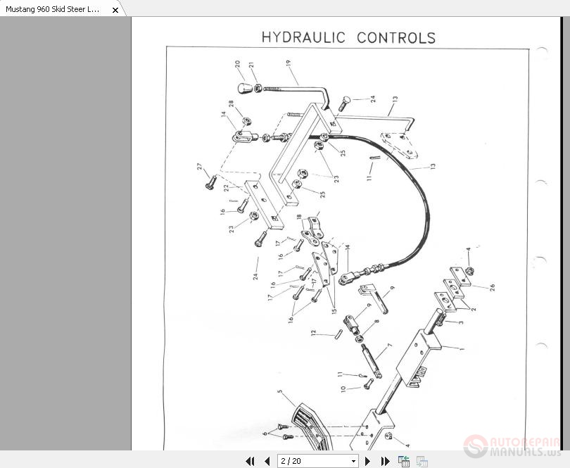 Mustang 960 Skid Steer Loader Parts Manual | Auto Repair Manual Forum -  Heavy Equipment Forums - Download Repair & Workshop ManualAutorepairmanuals.ws