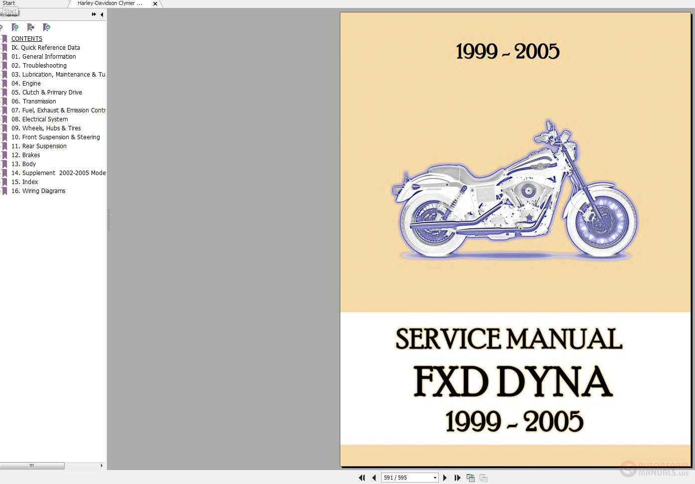 2005 Harley Fxd I Dyna Wiring Diagram Diagrams Data Base Davidson 95 Clymer 1999 Service Manual Auto Rh Autorepairmanuals Ws On Light For Click Here Download At