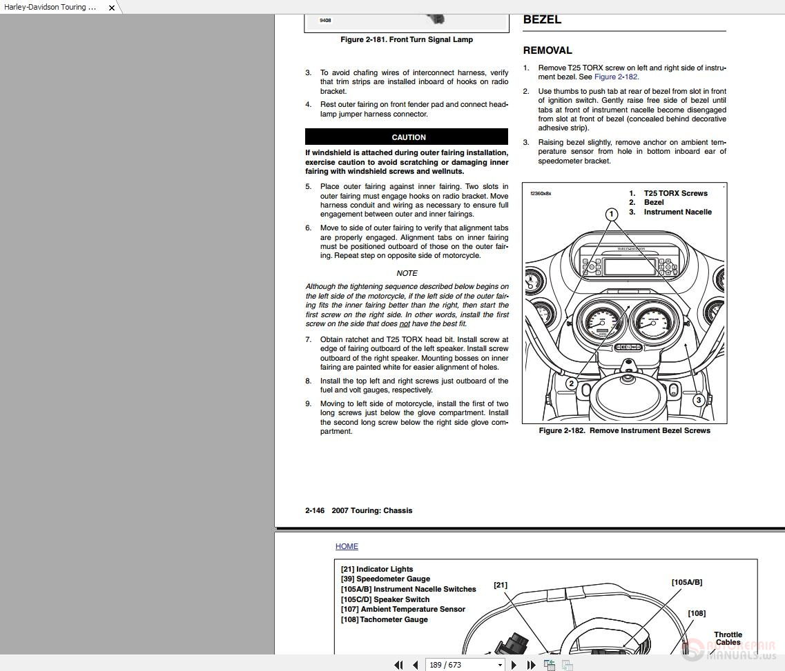 Harley-Davidson Touring 2007 Service Manual-Electrical ... on