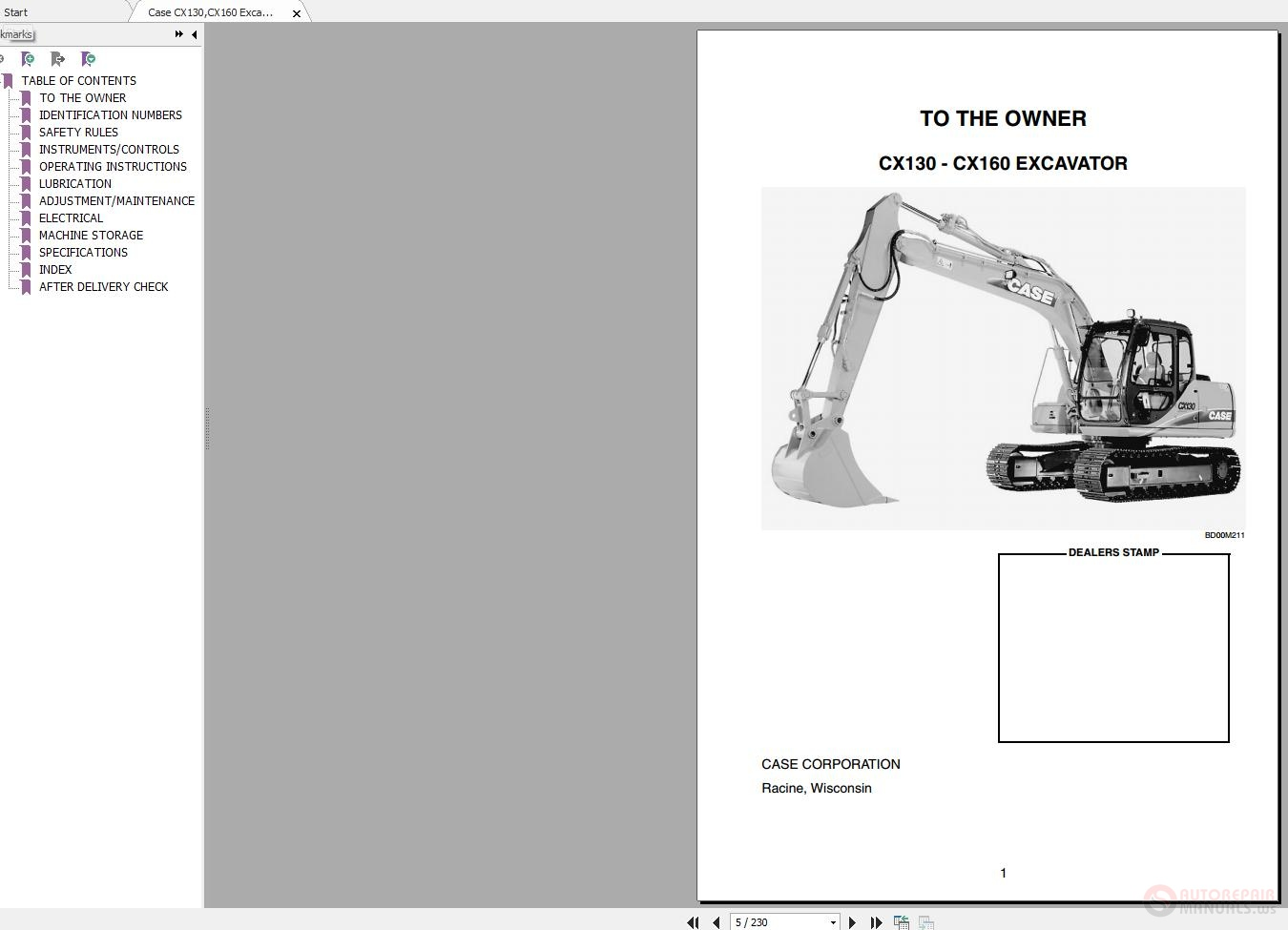 ... Array - case cx130cx160 excavator operators manual auto repair manual  rh autorepairmanuals ws