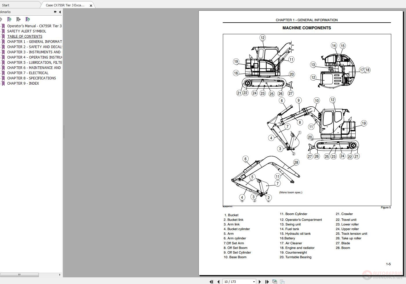 Case CX75SR Tier 3 Excavator Operators Manual | Auto Repair Manual