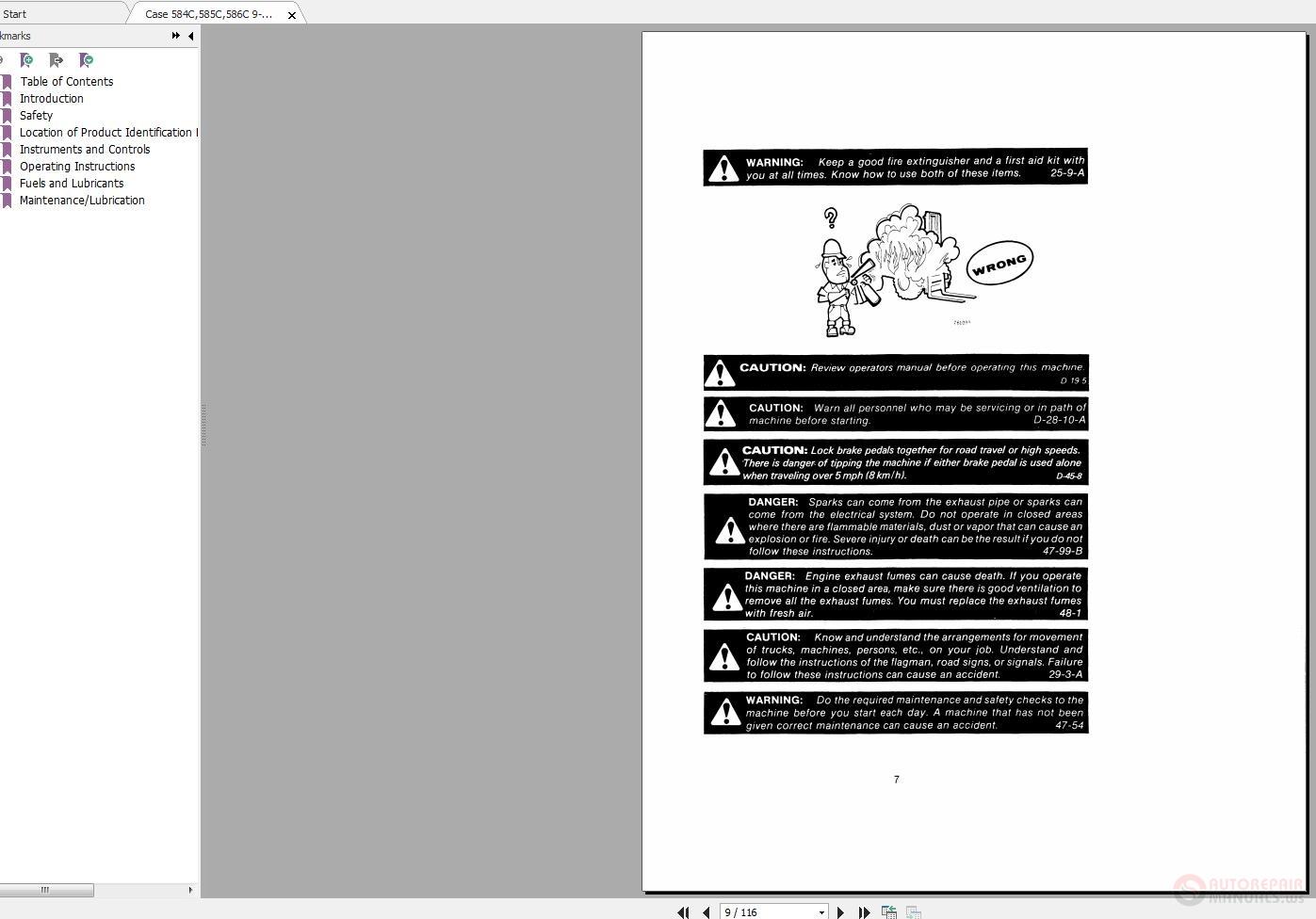 Case 584C Forklift Service Manual Agricultural & Construction ...