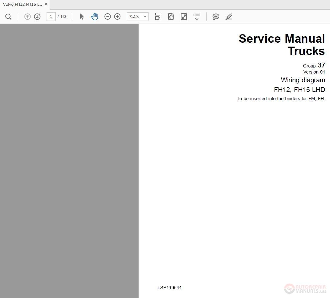 Volvo Fh12 420 Wiring Diagram Electrical Diagrams Fl10 Workshop Manual A Good Owner Example U2022 Trucks
