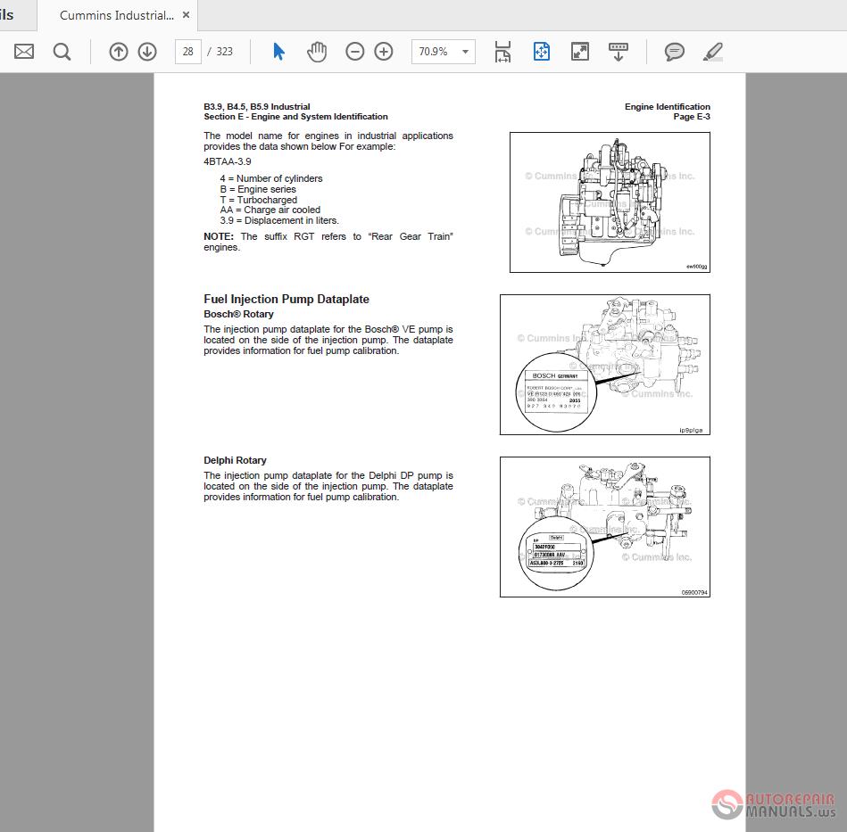 Cummins Industrial B3 9-B5 9 Engine 4032389 Operation Manual | Auto
