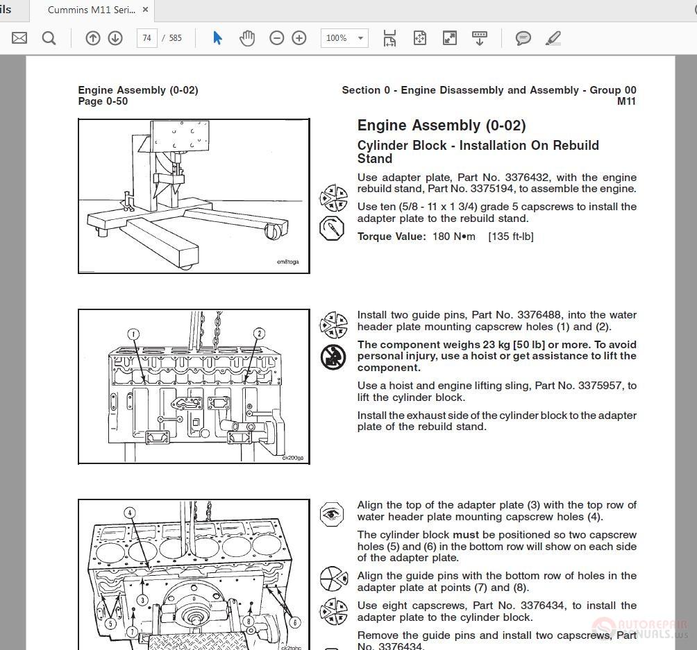 Cummins M11 Engine Diagram