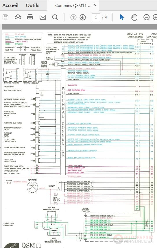 Cummins Qsm11 3666413-04 Wiring Diagram