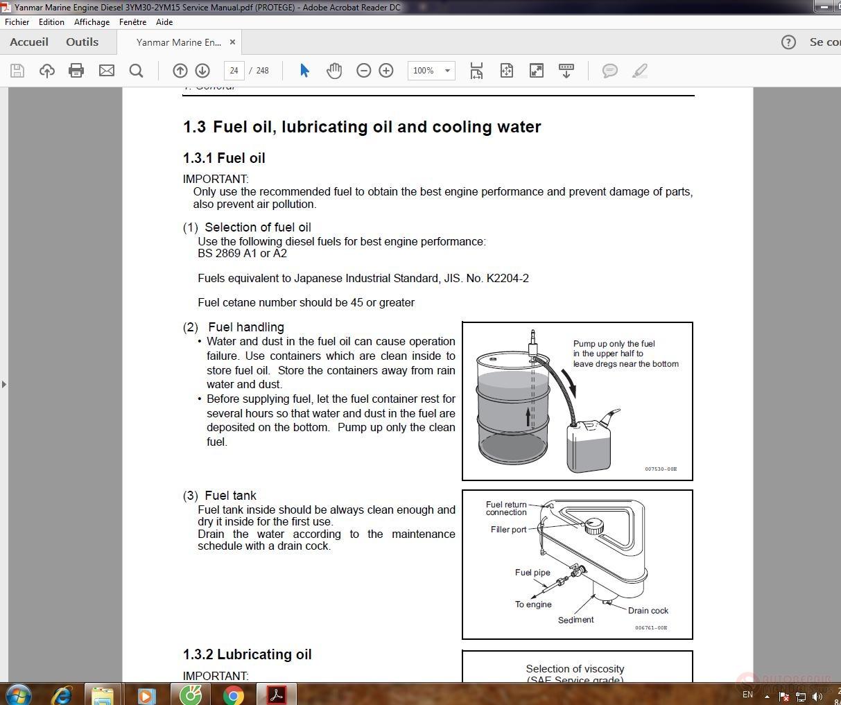 Yanmar Marine Engine Diesel 3YM30-2YM15 Service Manual | Auto Repair