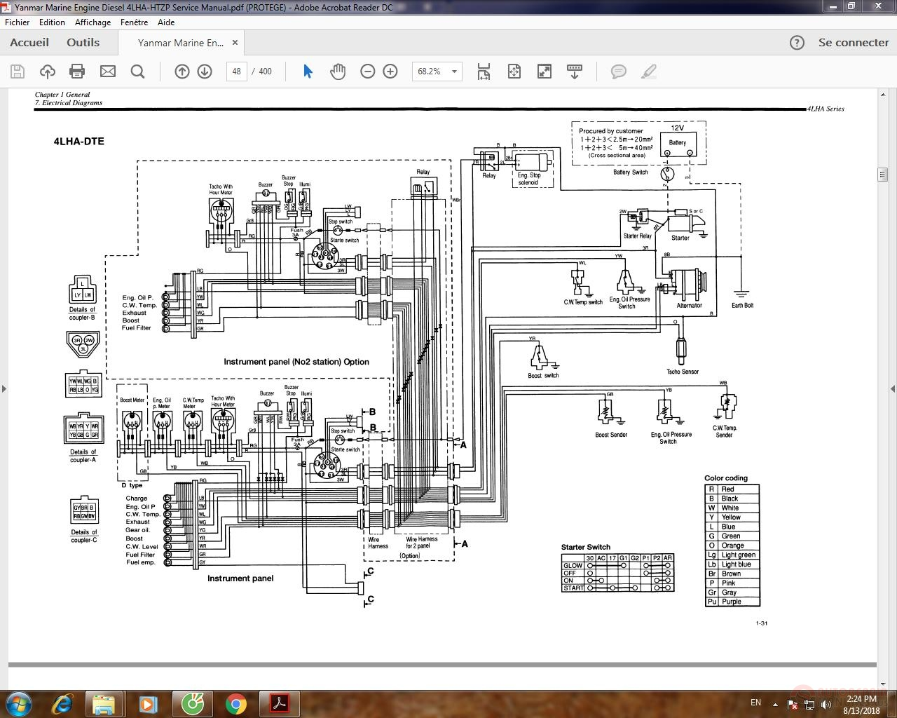 Yanmar Marine Engine Diesel 4LHA-HTZP Service Manual | Auto