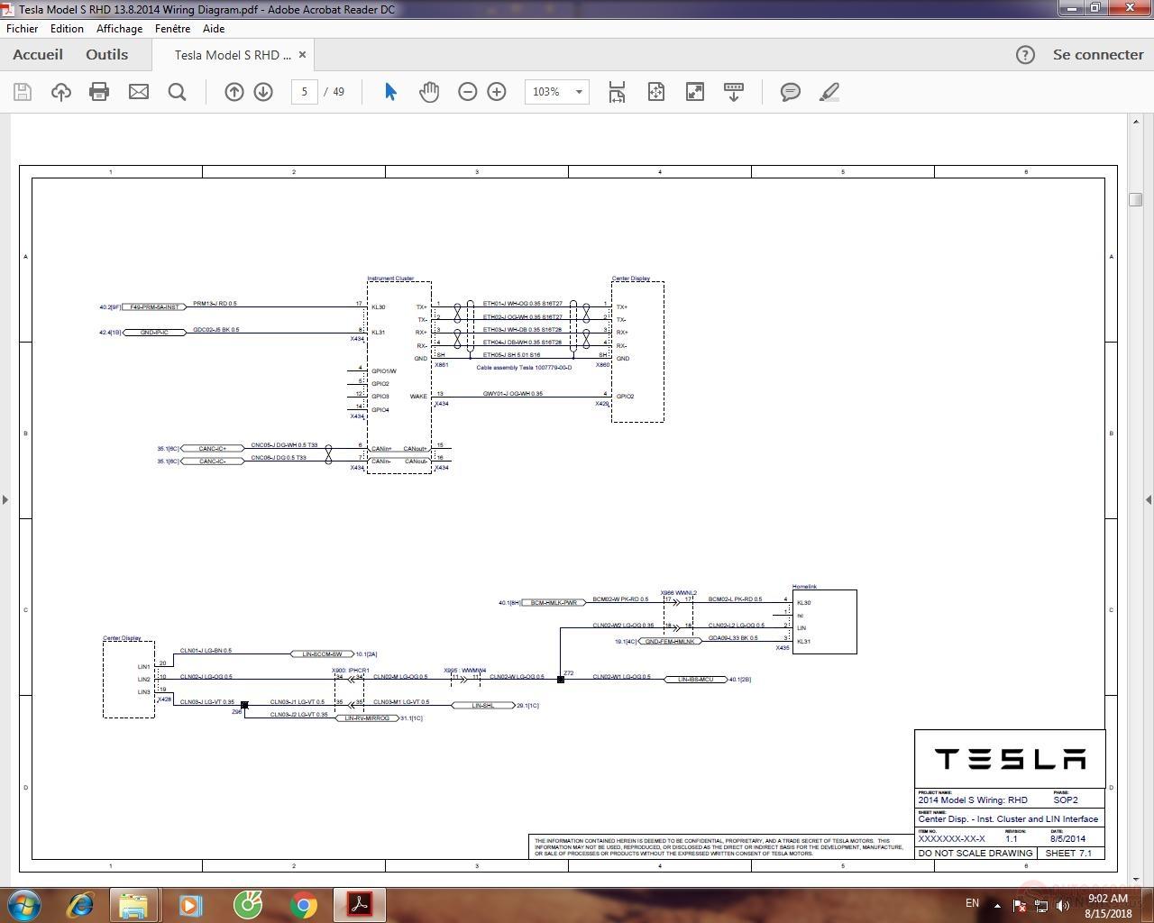 Tesla Model S Rhd 1382014 Wiring Diagram Auto Repair Manual Img