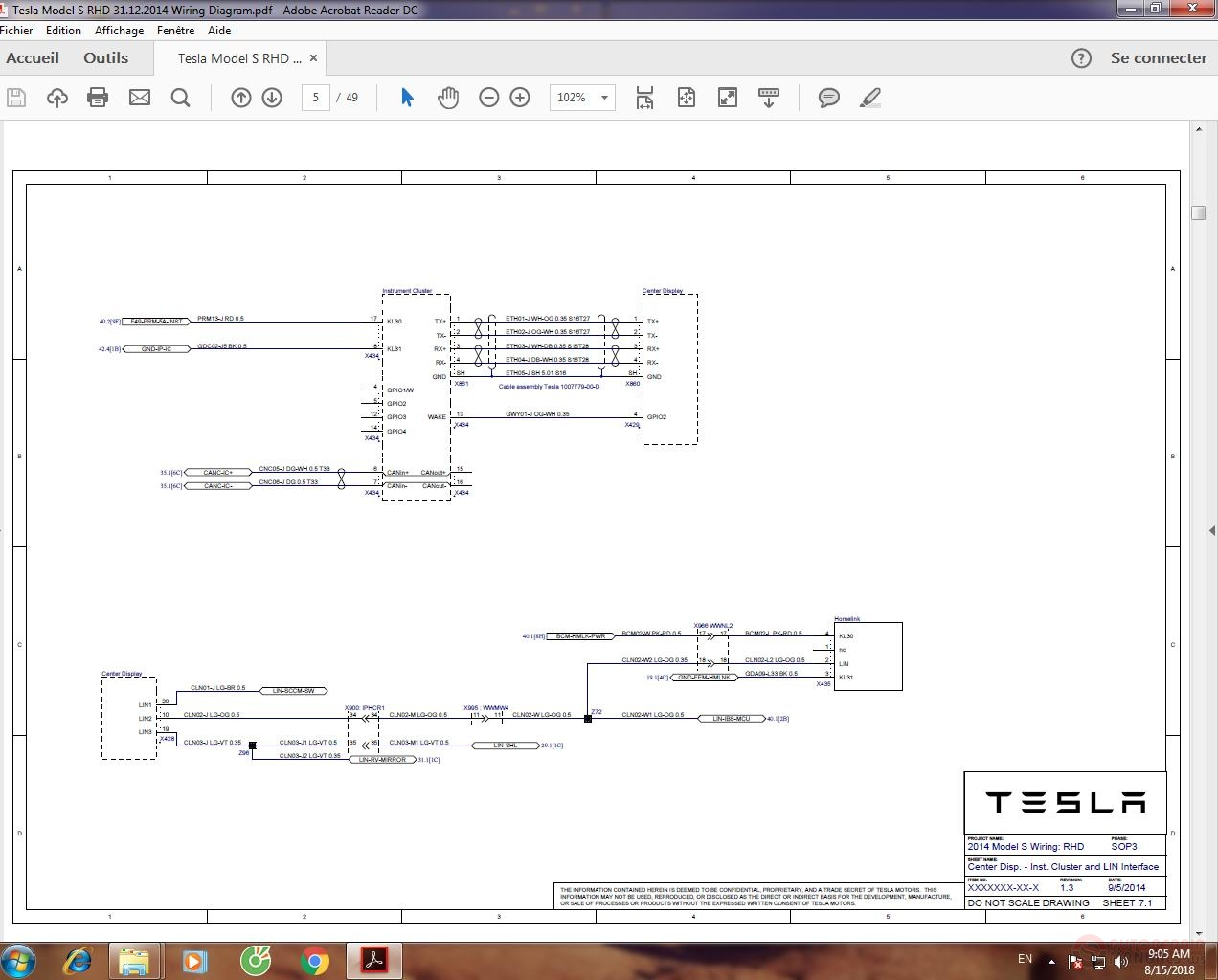 Tesla Model S Rhd 31 12 2014 Wiring Diagram