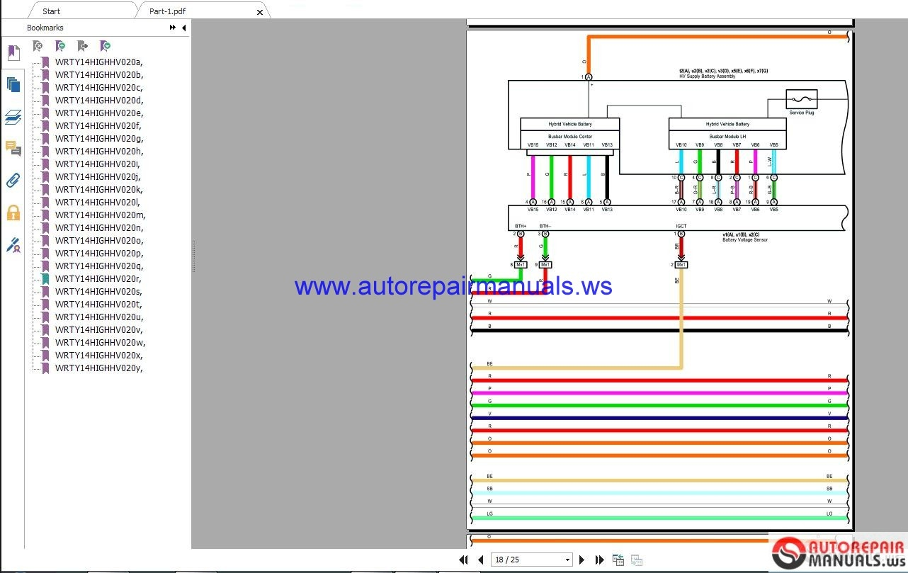 Toyota    Lexus 2018 Electrical    Wiring       Diagram    CD   Auto