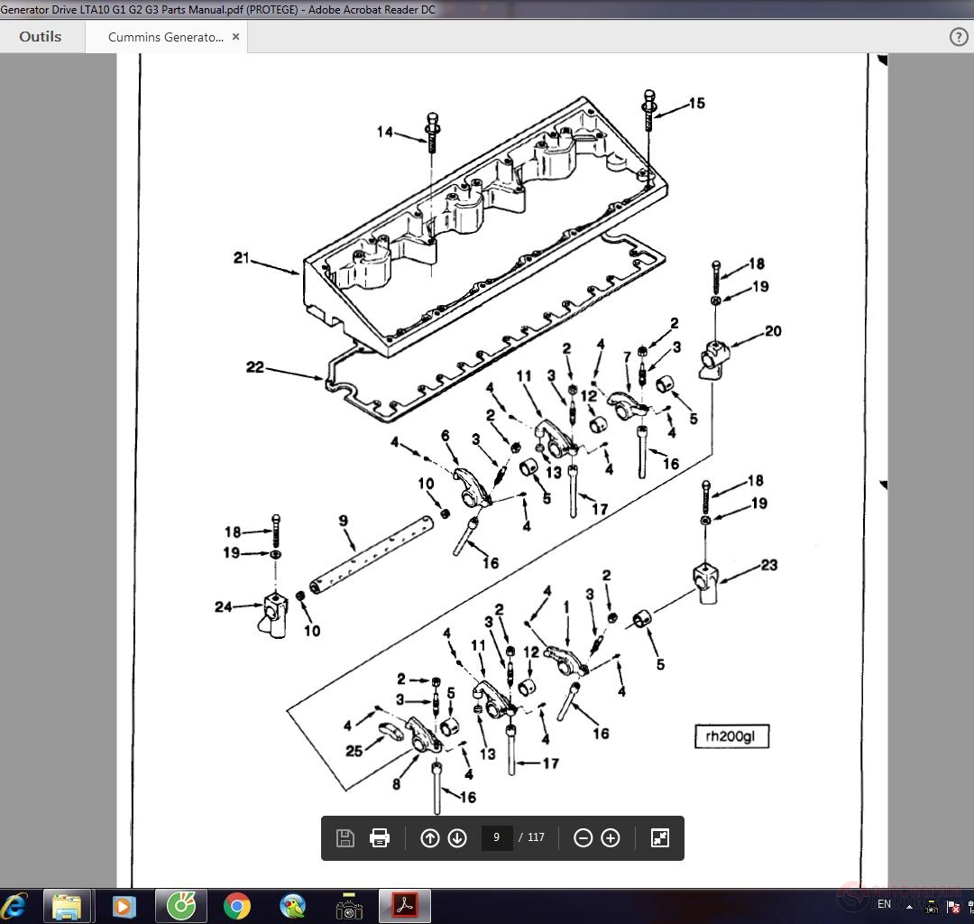 Cummins Generator Drive Lta10 G1 G2 G3 Parts Manual