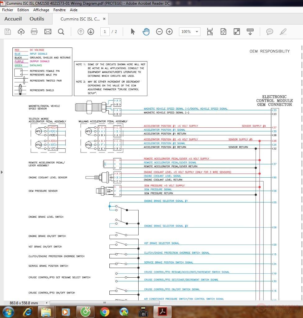 Cummins Isc Isl Cm2150 4021573-01 Wiring Diagram