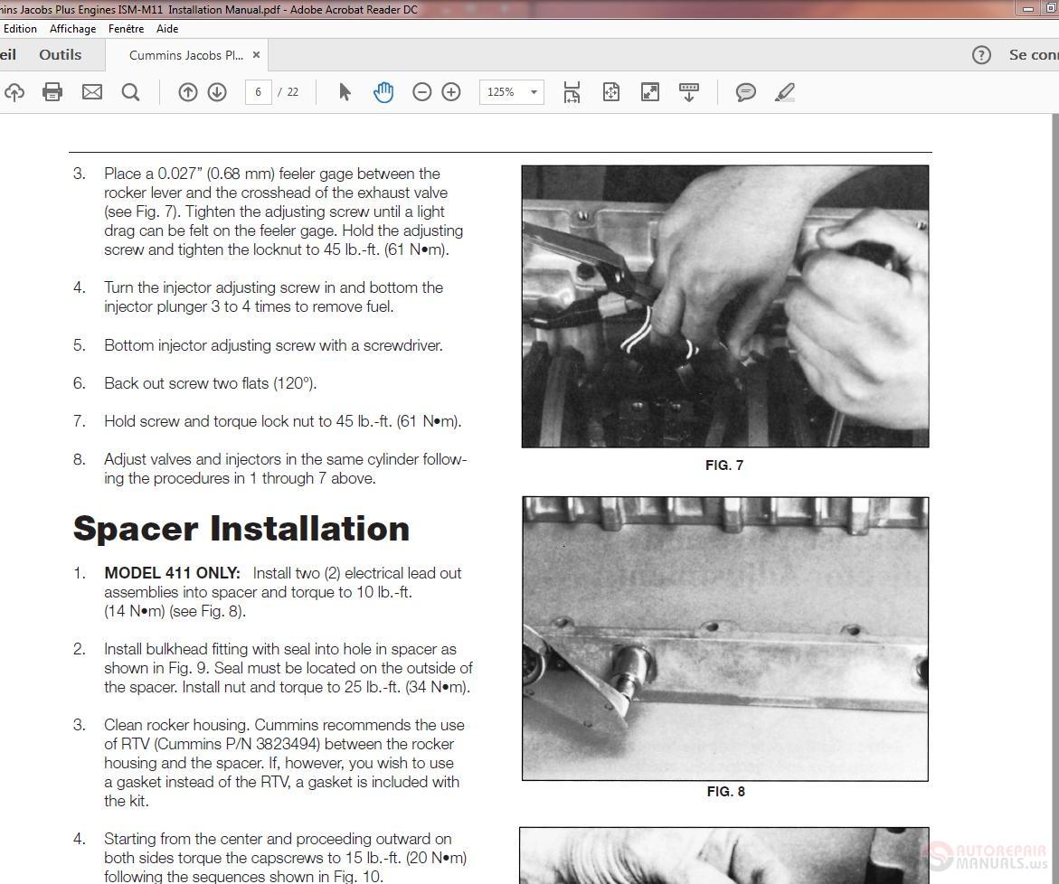 Cummins Jacobs Plus Engines Ism-m11 Installation Manual
