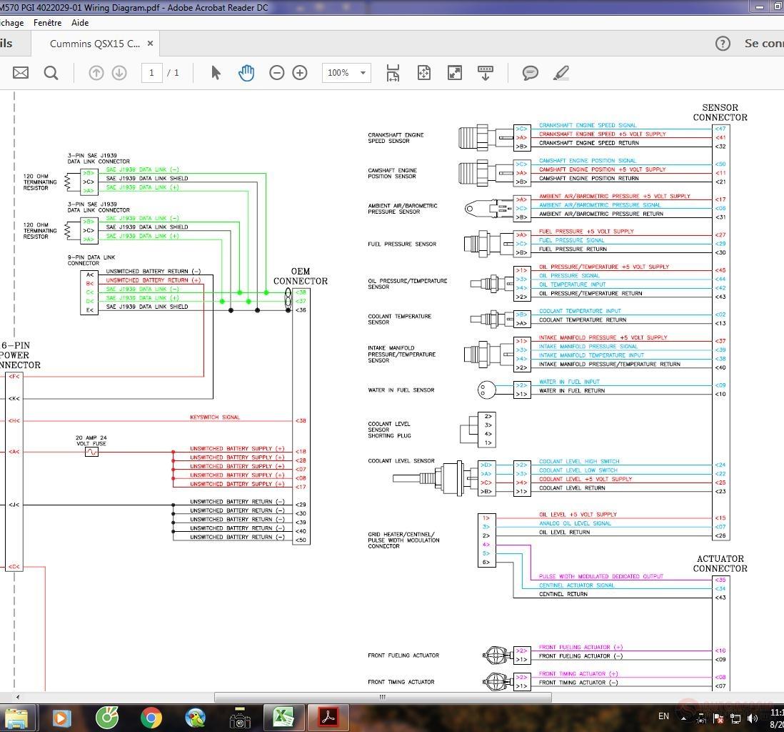 Cummins Qsx15 Cm570 Pgi 4022029-01 Wiring Diagram