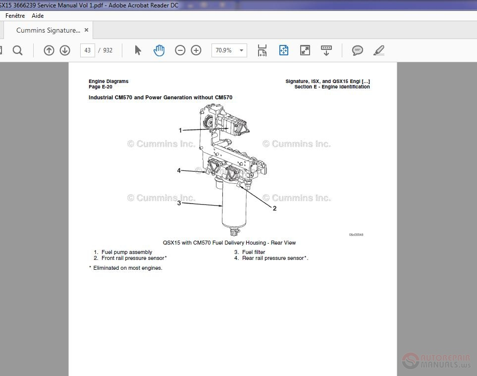 Cummins Signature Isx Qsx15 3666239 Service Manual Vol 1