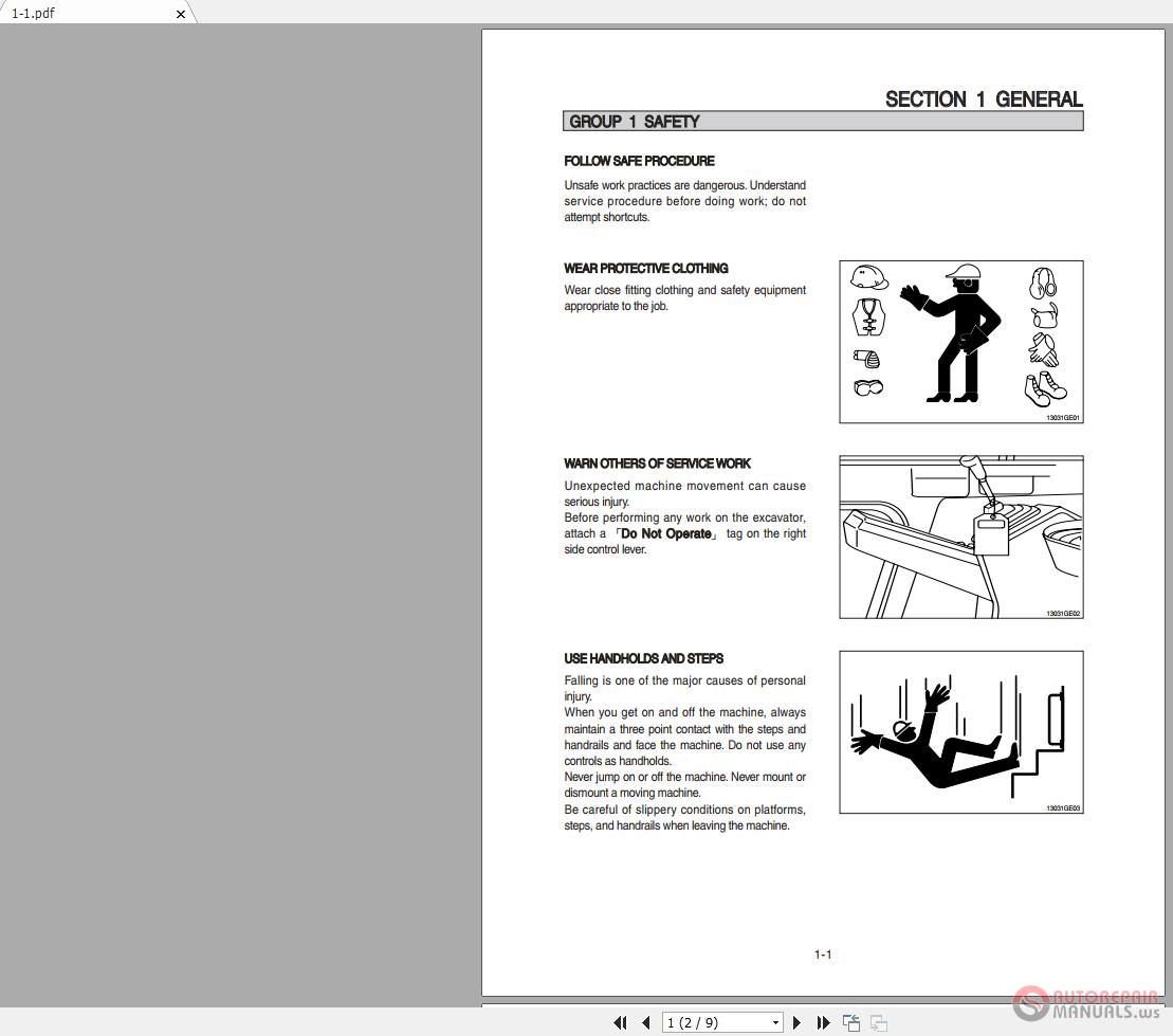 Huyndai R55W-9 Wheel Excavator Workshop Manual