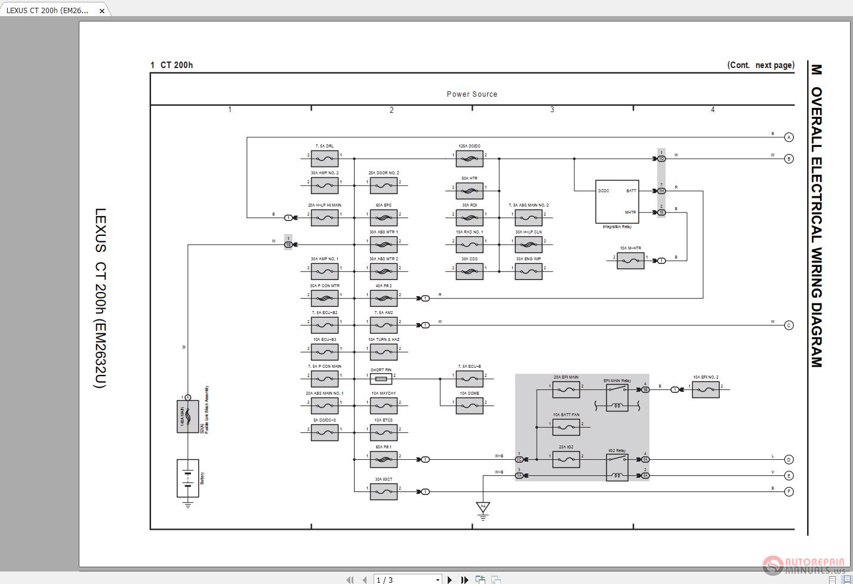 [SCHEMATICS_48ZD]  LEXUS CT200H 2015-2017 Electrical Wiring Diagram | Auto Repair Manual Forum  - Heavy Equipment Forums - Download Repair & Workshop Manual | Lexus Wiring Diagram |  | Auto Repair Manual Forum