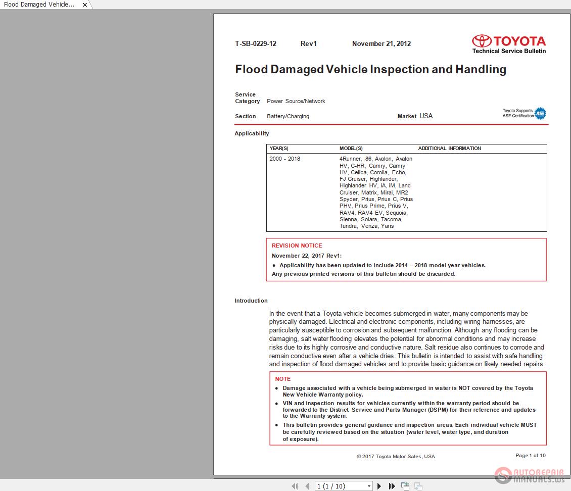 Toyota / Lexus - [TLDL00014] Toyota Series 2012 to 2017 Technical
