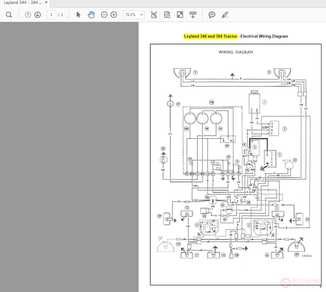 diesel tractor alternator wiring diagram leyland 344 384    tractor       wiring    diagrams auto repair  leyland 344 384    tractor       wiring    diagrams auto repair