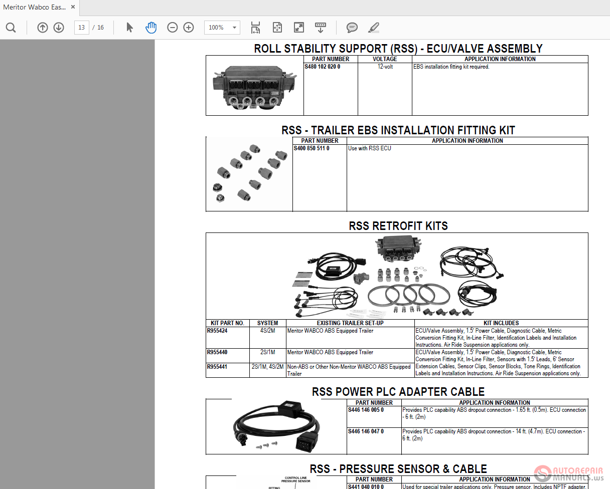 Easy Stop Abs Meritor Wabco Trailer Wiring Diagrams Parts Book 1216x976