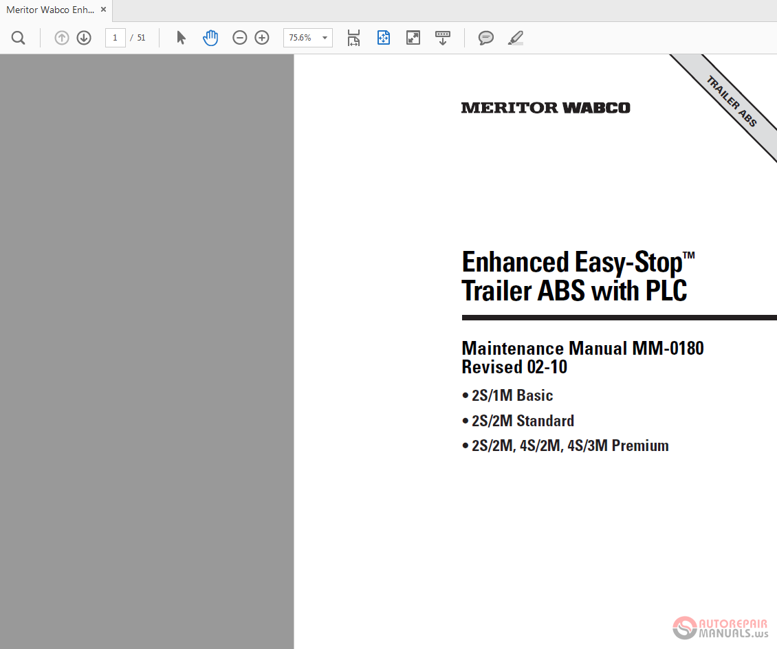 Easy Stop Abs Meritor Wabco Trailer Wiring Diagrams Enhanced With Maintenance Manual 1130x944