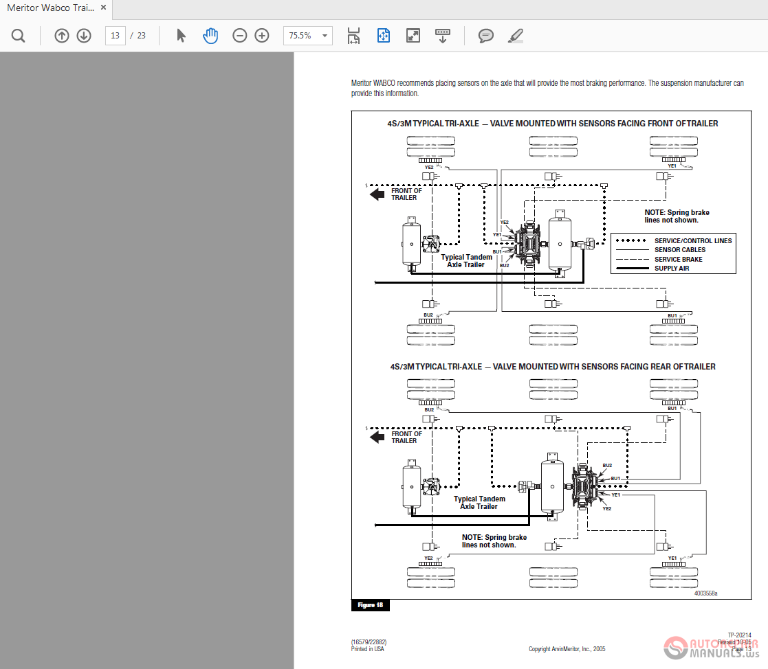 Meritor Wabco Trailer Abs Tp 20214 Installation Guide Auto Repair Wiring Diagrams