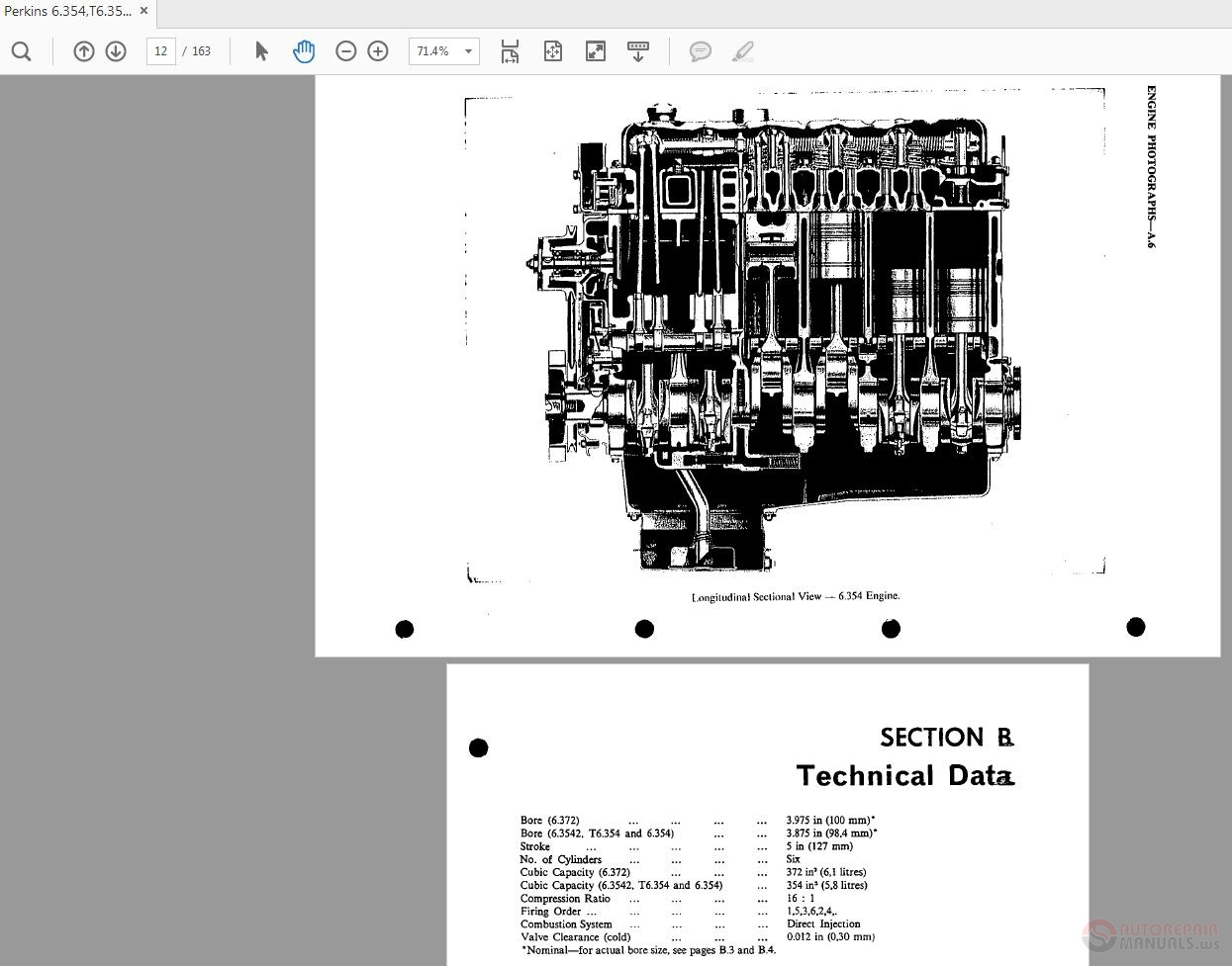 Perkins 6 354,T6 354,6 3542,6 372 SER1080E Workshop Manual | Auto